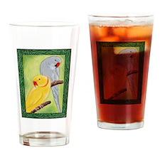 Indian Ringnecks Drinking Glass