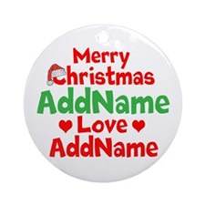 Merry Christmas Love Ornament (Round)