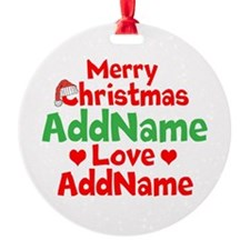 Merry Christmas Love Ornament