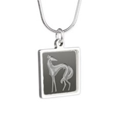 Art Deco Borzoi Silhouette Necklaces