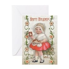 Born to Bake Vintage Girl Greeting Card