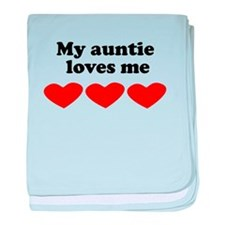 My Auntie Loves Me baby blanket