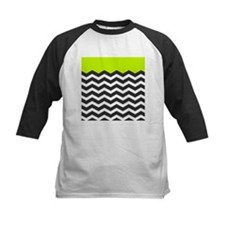 Lime Green Black and white chevron Baseball Jersey