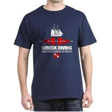 Wreck Diving (Line Markers) T-Shirt