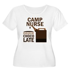 Camp Nurse Chocolate T-Shirt