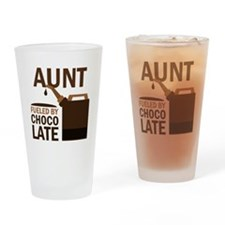 Aunt Fueled By Chocolate Drinking Glass