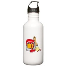 Paint Brush and Can Water Bottle
