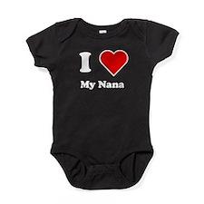 I Heart My Nana Baby Bodysuit
