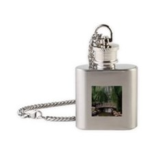 Asian garden, Flask Necklace