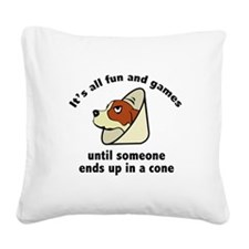 It's All Fun And Games Square Canvas Pillow