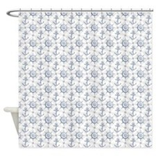 Nautical Pattern Shower Curtain