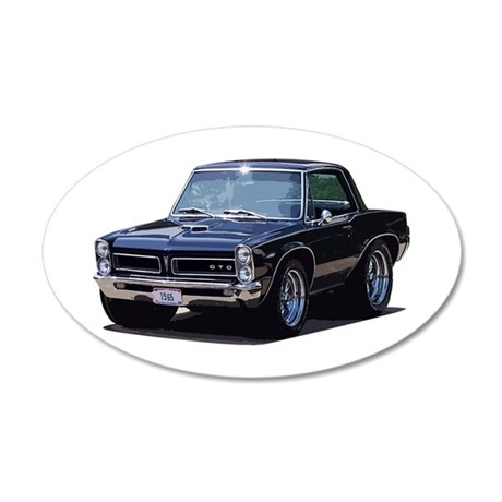 abyAmericanMuscleCar_65GTO_Black Wall Decal