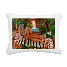 RUMBLE IN THE JUNGLE Rectangular Canvas Pillow