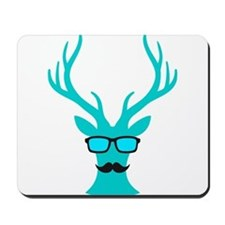 Christmas deer with mustache and nerd glasses Mous