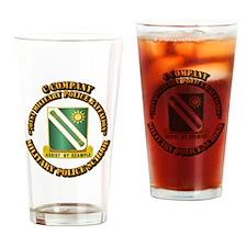 C Company - 701st MPB w Text Drinking Glass