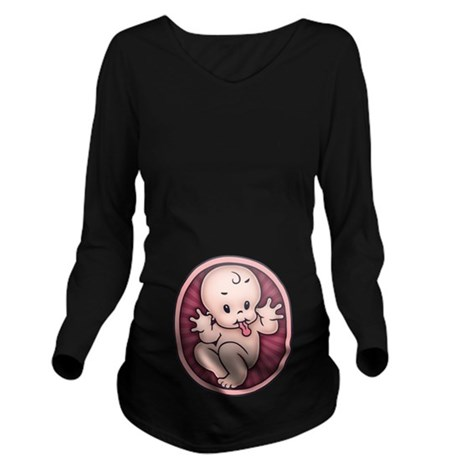 razz-baby-T.png Long Sleeve Maternity T-Shirt
