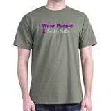 I Wear Purple For My Sister T-Shirt