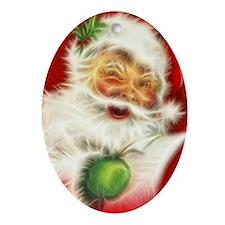 Fractal Santa Oval Ornament