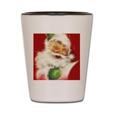 Fractal Santa Shot Glass