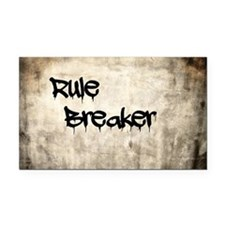 Rule Breaker Rectangle Car Magnet