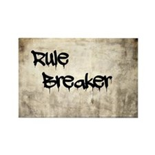 Rule Breaker Rectangle Magnet