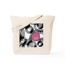 Stylish Weave Pattern Monogram Tote Bag