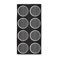 Gray Circles Beach Towel