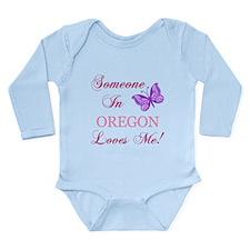 Oregon State (Butterfly) Long Sleeve Infant Bodysu