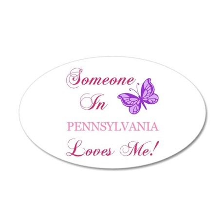 Pennsylvania State (Butterfly) 20x12 Oval Wall Dec