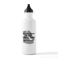 Army Grandma Grandson wears CB Water Bottle
