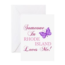 Rhode Island State (Butterfly) Greeting Card