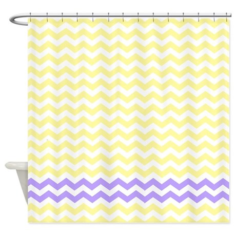 Yellow And Purple Chevrons Shower Curtain By Laughoutlouddesigns1