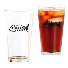 Fishbones Drinking Glass