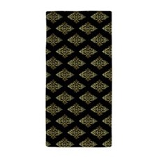 Decorative Gold And Black Beach Towel