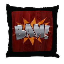 Inlay Bam! Throw Pillow