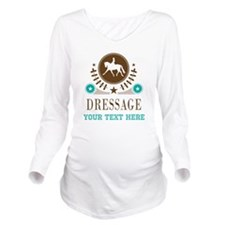 Dressage Personalized Long Sleeve Maternity T-Shir