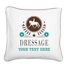 Dressage Personalized Square Canvas Pillow