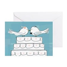 Love Birds Blank Greeting Card (10 Pack)