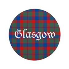 "Tartan - Glasgow dist. 3.5"" Button"