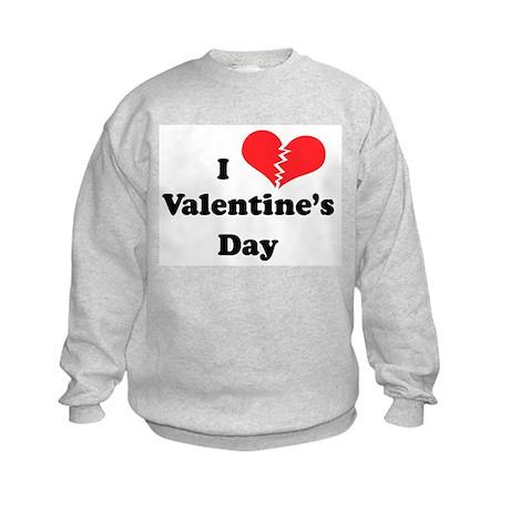 I Hate Valentine's Day Kids Sweatshirt