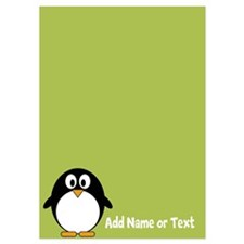 Cute Penguin Text Lime Invitations
