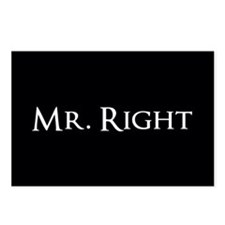 Mr Right part of his and hers set Postcards (Packa