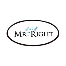Mr always Right part of his and hers set Patches