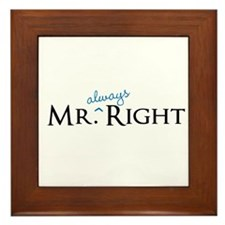 Mr always Right part of his and hers set Framed Ti
