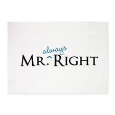 Mr always Right part of his and hers set 5'x7'Area