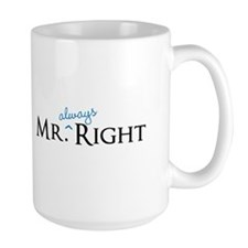 Mr always Right part of his and hers set Mugs