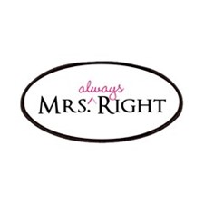 Mrs Always Right part of his and hers set Patches