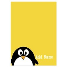 Cute Penguin Text Yellow Invitations