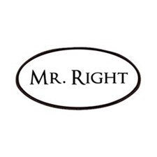 Mr Right part of his and hers set Patches