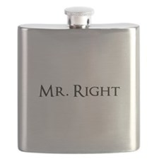 Mr Right part of his and hers set Flask
